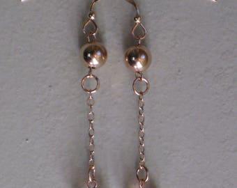 Earrings pink Crystal heart