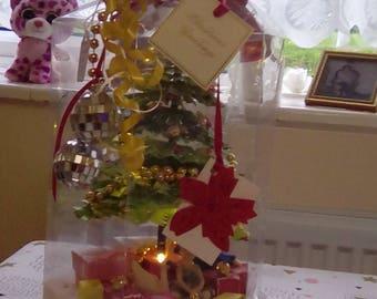 Xmas tree table lighted keepsake