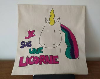 Unicorn decorative pillow cover