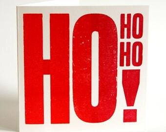 Ho Ho Ho ! - Letterpress Christmas Card