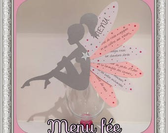 Menu fairy to hang customizable patterns and colors