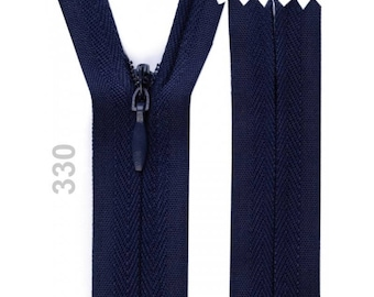 invisible zipper Blue Navy 60 cm