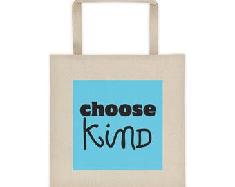 Choose Kind Wonder Book Tote Bag RJ Palacio anti bullying kindness positive message, acceptance, perseverance teachers gift librarian tutor