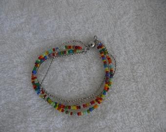 Bracelet multicolored seed beads