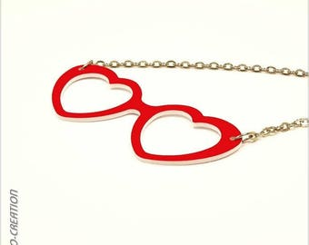 "Necklace ""Hearts"" (large) glasses"
