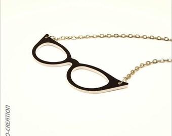 """Necklace """"vintage"""" (large) glasses"""