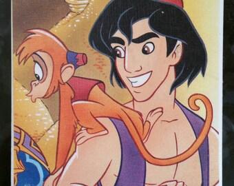 Handmade Disney Aladdin tile coaster