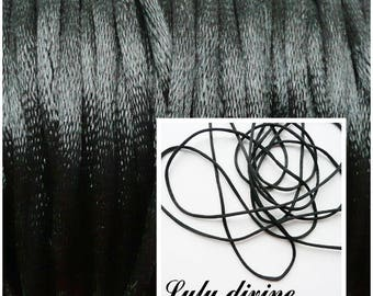 Cord / 2 mm polyester thread, color: black