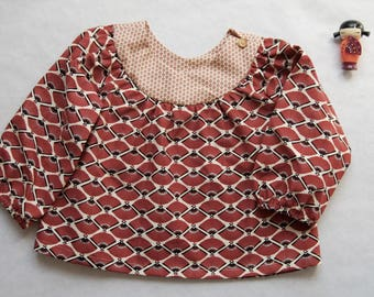 Japanese cotton girl blouse