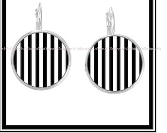 """Earrings,"" simply black & white """