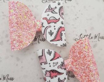Pink Dino Hair Clip