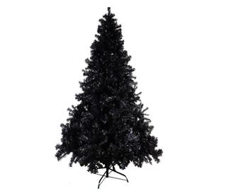 7ft / 210cm Artificial Black Christmas Tree - FIRE CERTIFIED