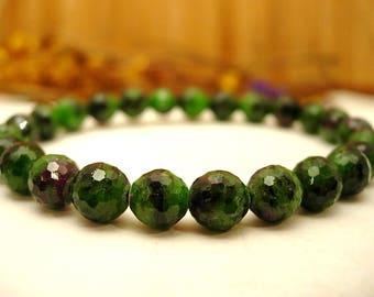 Ruby Zoisite stones bracelet.