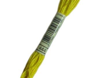 Special DMC 444 yellow bright - thread dmc stranded 444 - skein of thread dmc embroidery FLOSS 444 mouline 444