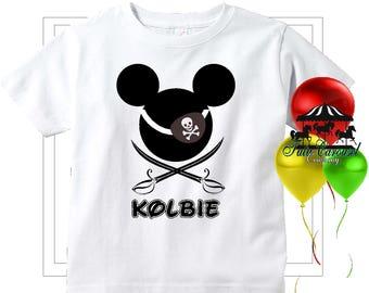 Mickey Mouse Pirate Cruise Disney Vacation Shirt, Personalized Shirt  (mc575)