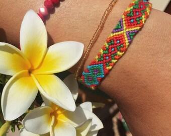 Geometric Rainbow Friendship Bracelet