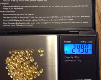 Approx 25 carats of yellow Sapphire natural