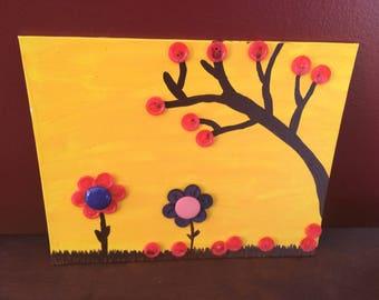 Yellow Sky (Button Art)