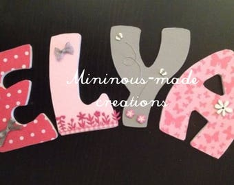 Name with ELYA custom wooden letters
