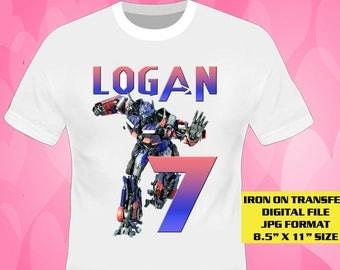 Transformers Iron On Transfer Design , Transformers Birthday Shirt DIY , Transformers Shirt Diy , Transformers , Digital File Only , JPG