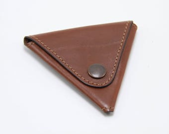Leather coin holder