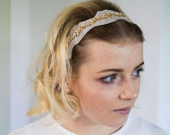Headband with flower applications