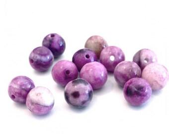 X 50 unakite 6mm stone beads