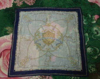 Vintage CELINE PARIS Handkerchief/Bandana/100% Silk