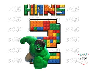 Lego On Transfer Design. Lego Birthday Shirt Iron On Transfer. Lego DIY Birthday Shirt Transfer. Digital File Only