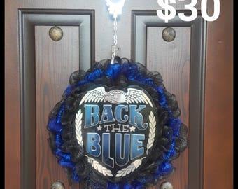 Police / Blue line Wreath