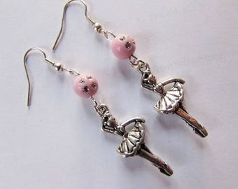 "Earrings ""star dancer"" dancer, pastel Pink Pearl"