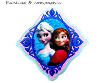 Applique 1 thermocollante Patch badge iron Anna and Elsa frozen