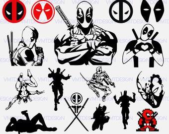 Deadpool Svg - Deadpool Svg files - Deadpool clipart - Deadpool digital clipart files , files download eps, svg, png, jpg