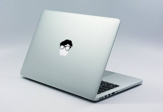 Nerd Decal Sticker for Macbooks and other Laptops, Laptop Skin, Glasses, Geek, Techie, mac