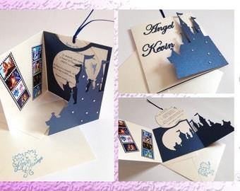 Invitation designs Animes and Castle princesses 'Disney way'-