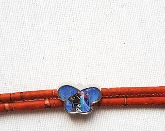 Cork Orange Butterfly shape bracelet