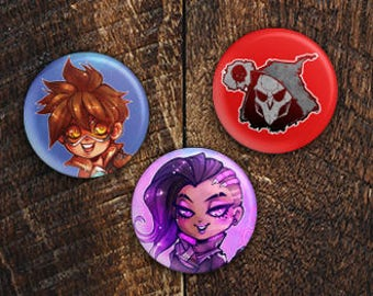 "Overwatch 1"" Buttons"