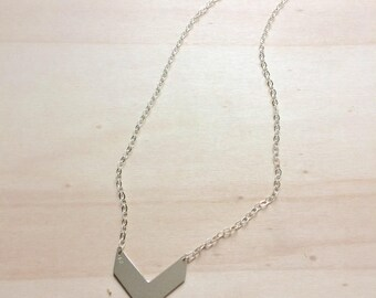 Pendant necklace half triangle 925 sterling silver