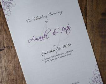 Greek Wedding Ceremony Program, Greek Wedding Program, Greek Wedding Programs, Greek Programs, Greek Program, Greek Wedding Booklet, Program