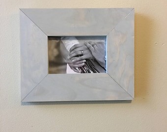 4x6 Stained Pine Picture Frame