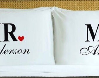 MR. And Mrs. Pillow Cases