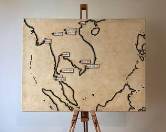 Travellers Map of South East Asia