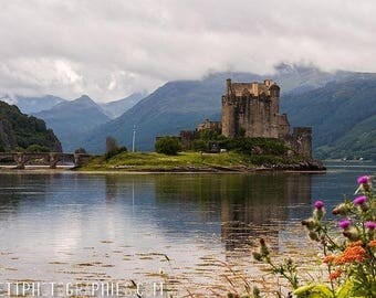 Photograph of a castle in the Highlands of Scotland 20x30cm