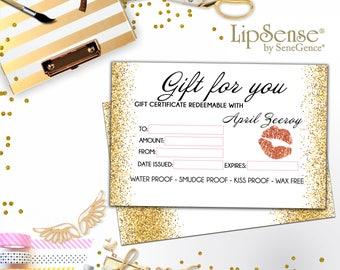 LipSense Gift Certificate LipSense Distributor Cards marketing Business LipSense Gift Card Lips Gift - SeneGence Gift!
