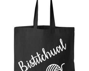 "Tote bag slogan ""bistitchual"""