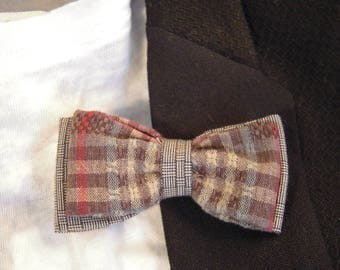 Prince of Wales and Plaid bow tie