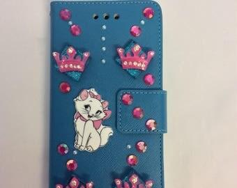Kitty rhinestone  iphone case