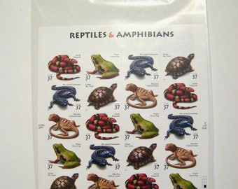 20 Unused 2003 Reptiles & Amphibians - 37 cent Postage Stamps - Scott # 3814-3818 Still Sealed In USPS Packaging - Free Shipping