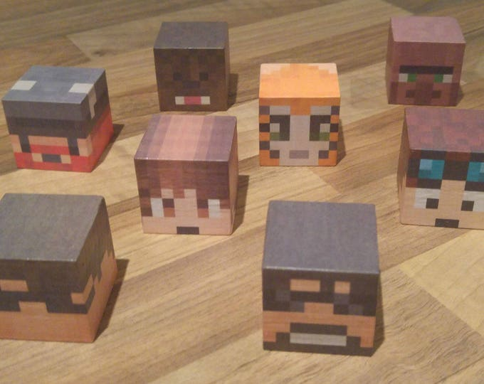 Minecraft style Youtube players block set