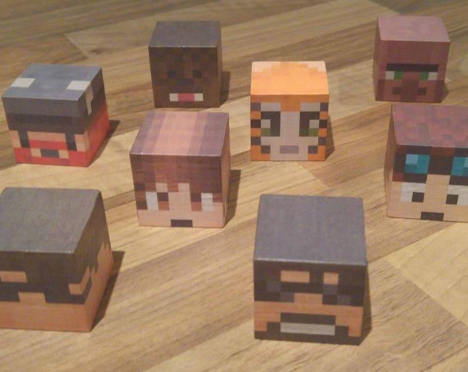 Minecraft style Youtube players block set